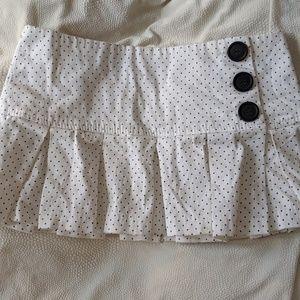 Wet seal pleated polka dot mini skirt